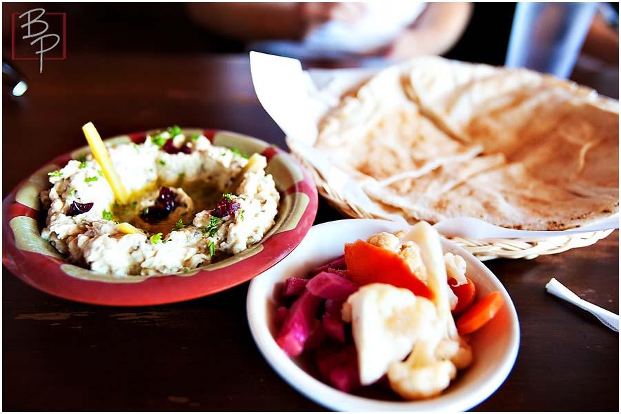 Food plates at Alfaron Restaurant in San Diego