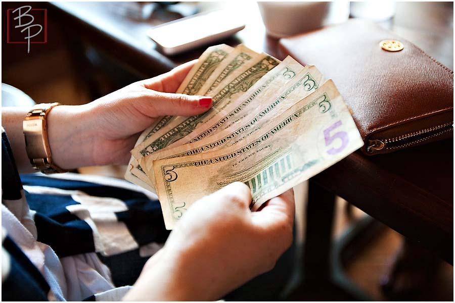 Cash payment at Alfaron Restaurant at SDSU Area