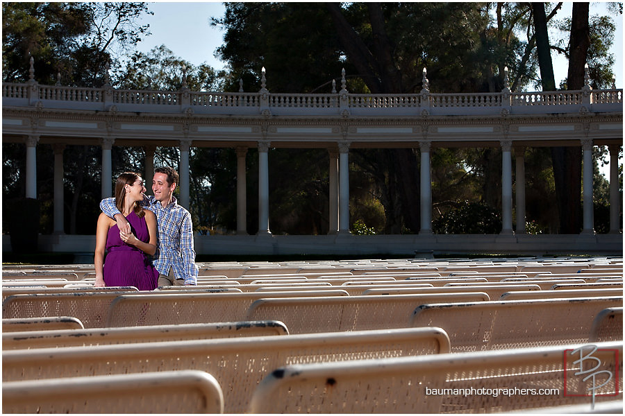Bauman Photographers engagement images in Balboa Park