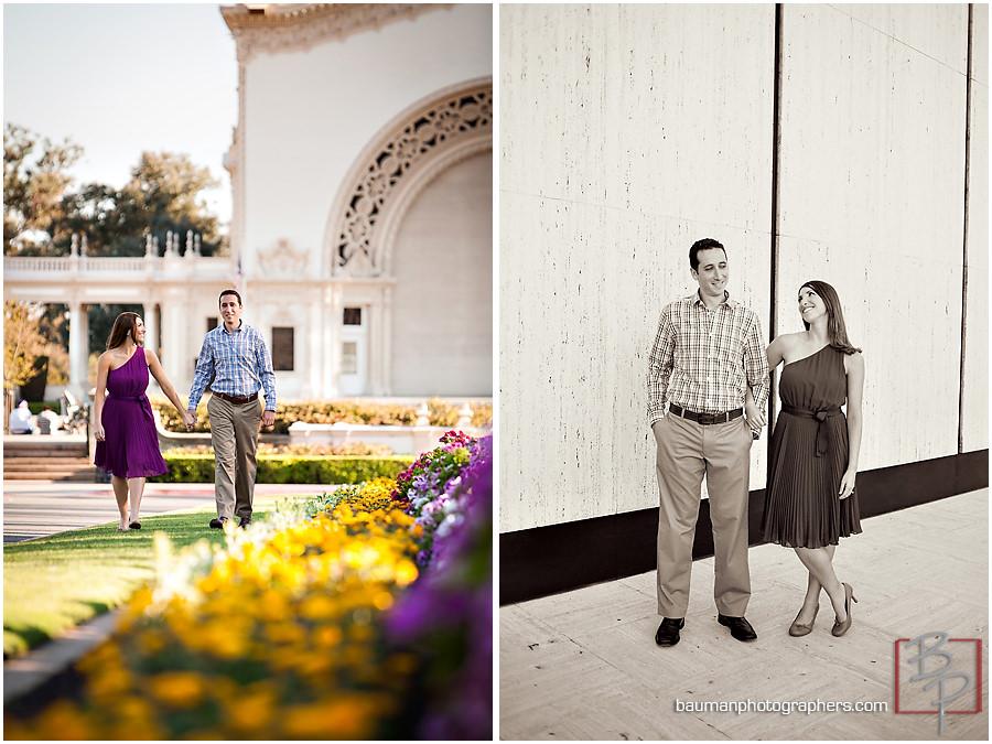 Bauman Photographers engagement shoot in Balboa Park