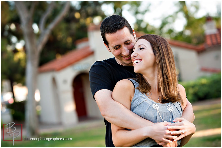 Engagement photography in Balboa Park, Bauman Photographers