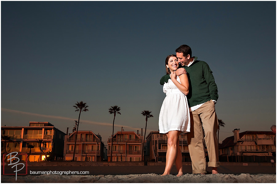 Bauman Photography engagement pictures at Mission Beach