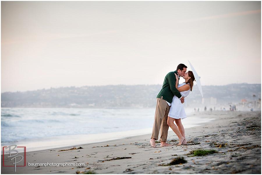 San Diego beach engagement photography