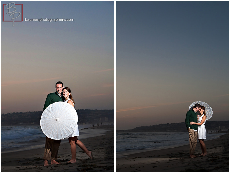 Engagement pictures at Mission Beach