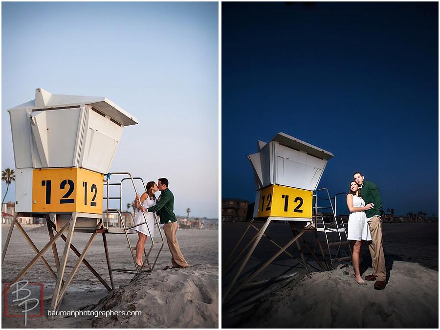 Beach engagement session, San Diego