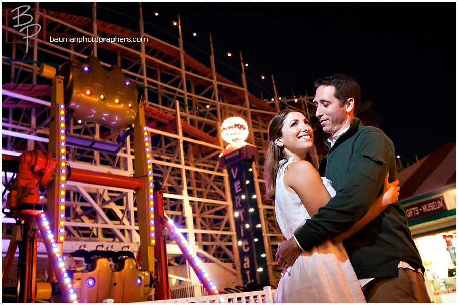 San Diego engagement pictures at Belmont Park