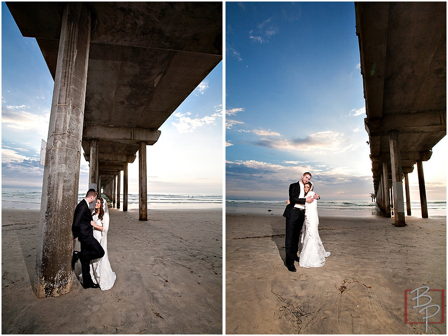 Pier Wedding Portraits