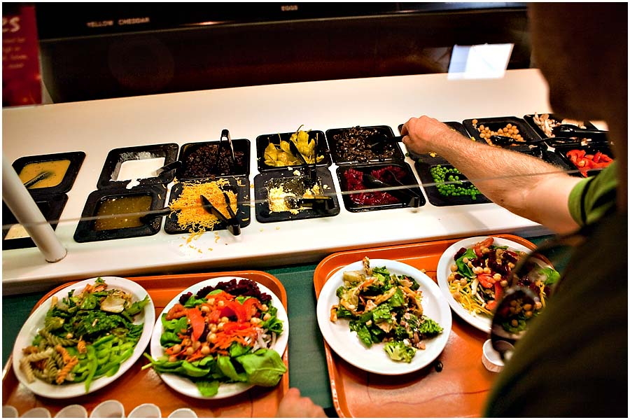 Salad Buffet at San Diego