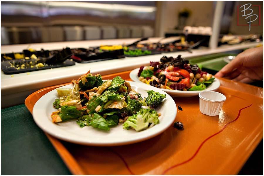 Salads at Souplantation Restaurant
