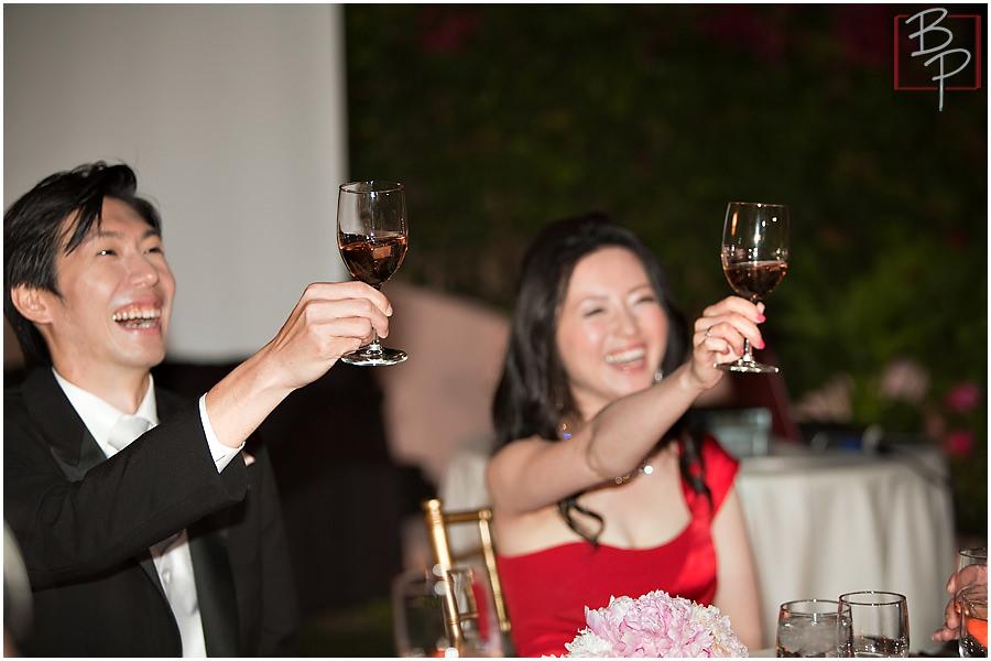 Photographs of wedding reception in San Diego