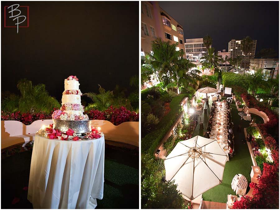 Wedding reception in La Jolla at La Valencia Hotel