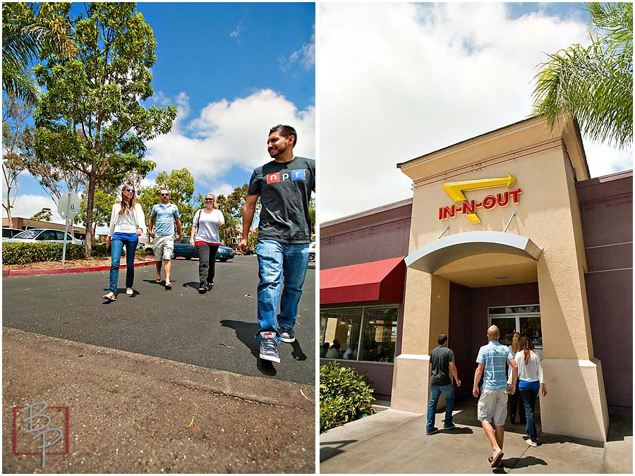 Guys at In N Out Entrance