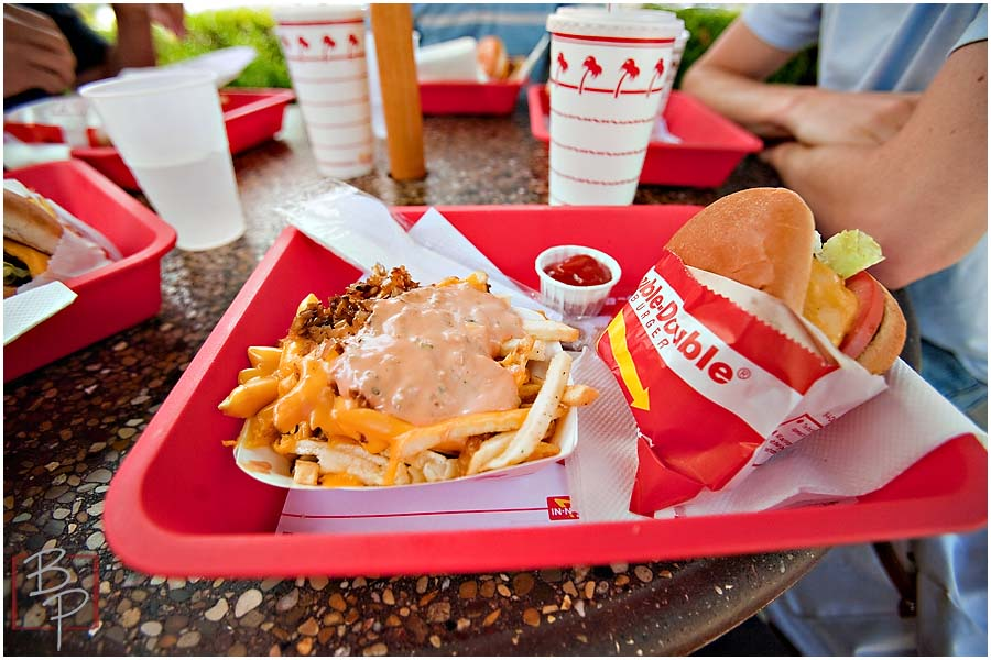 In N Out Hamburger and Fries