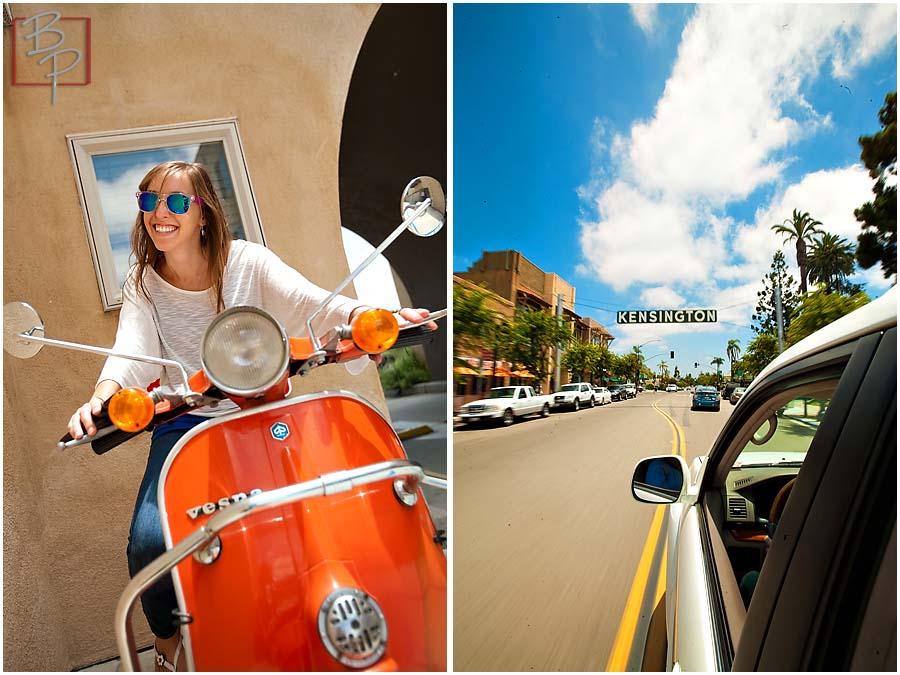 Girl outsite Kensington Studio in San Diego