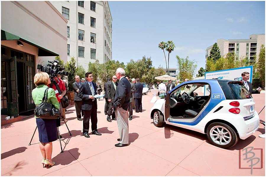 San Diego Major Jerry Sanders and Media Press at CAR2GO Event in Downtown San Diego