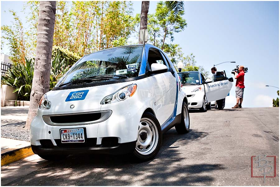 Parked car at Ash Street in Downtown San Diego from CAR2GO Event