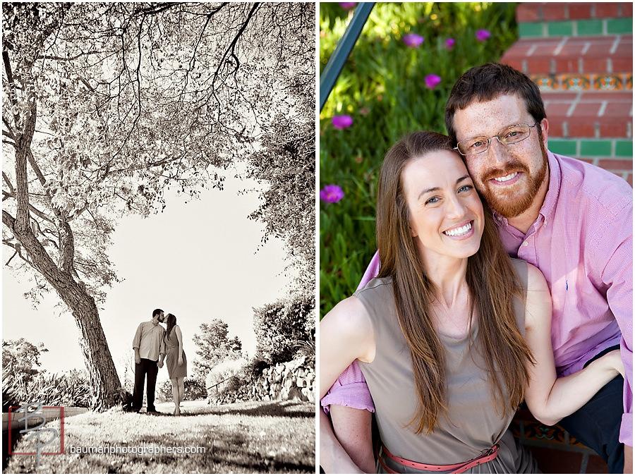 Engagement pictures, Inn at Rancho Santa Fe, San Diego