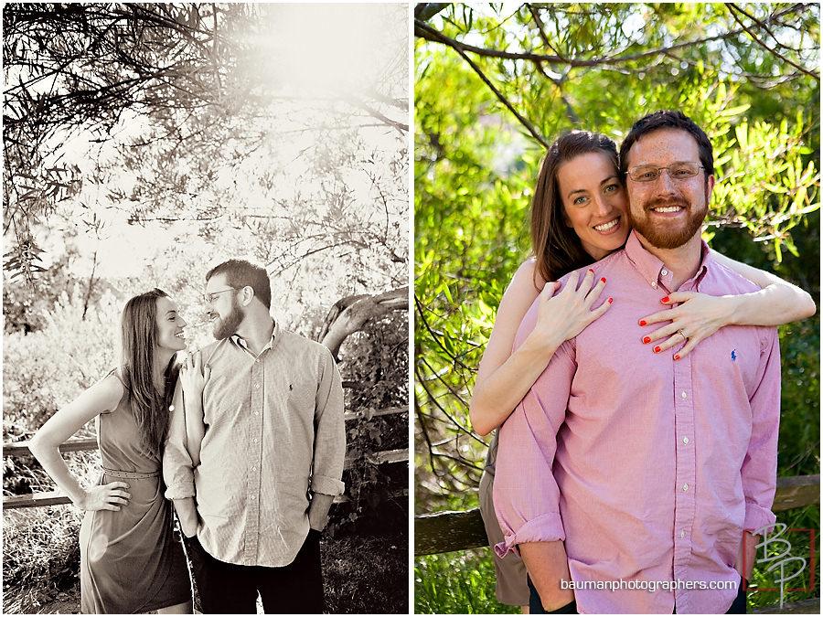 Engagement portraits by Bauman Photographers, San Diego