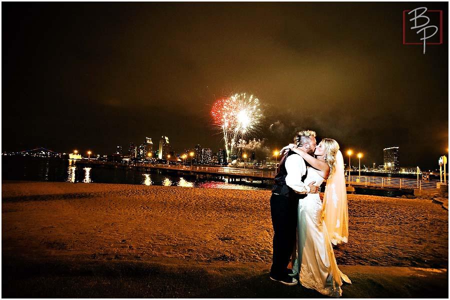 San Diego Fireworks Wedding Photography