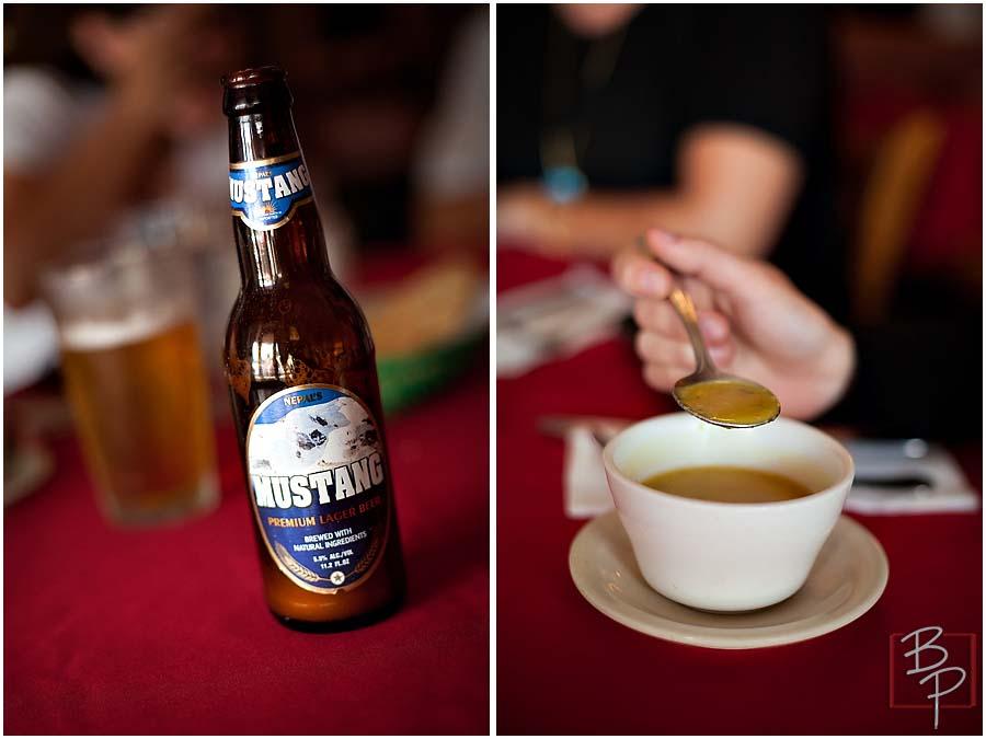 Himalayan Salad and beer