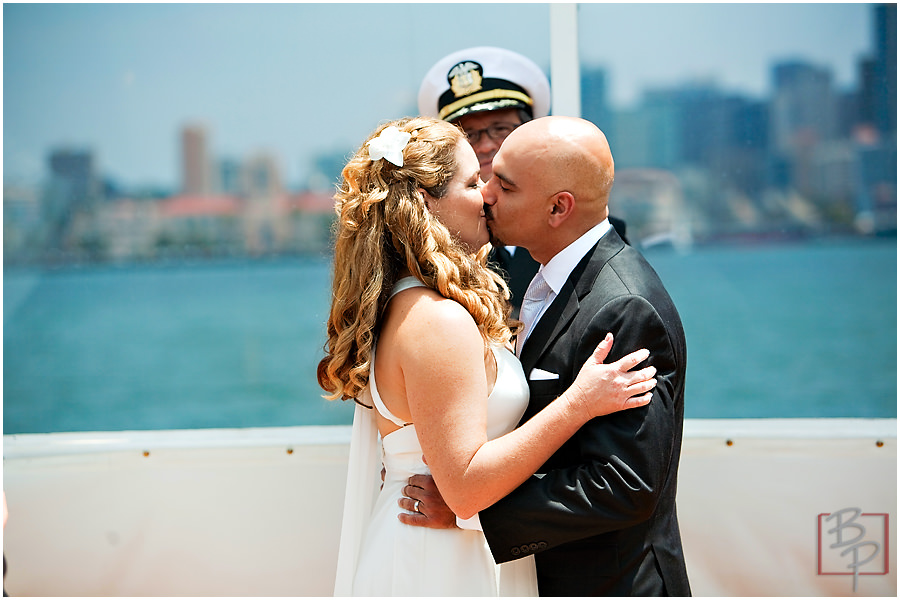southern california wedding kiss photography