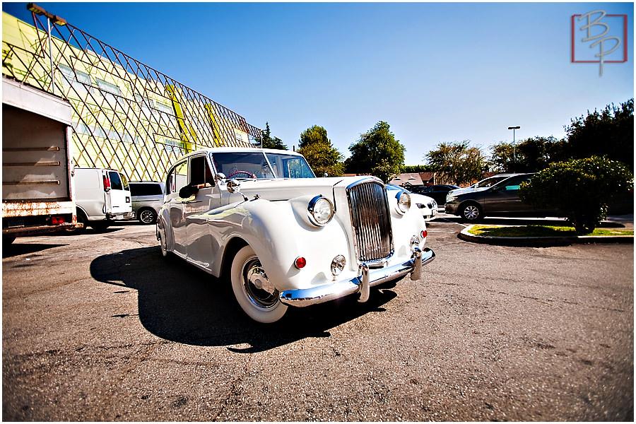 Wedding photography getaway car