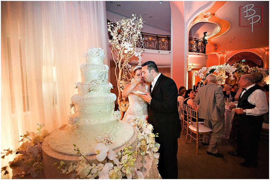 Wedding reception Cake  cutting
