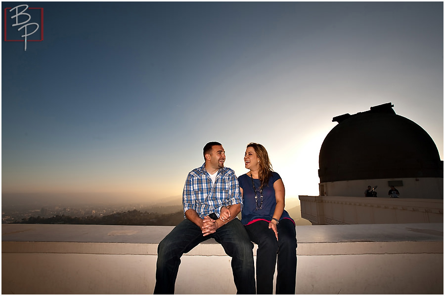 Los Angeles Griffith Observatory Armenian engagement session