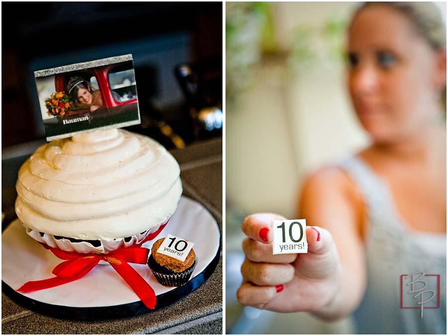 Cake of Bauman Photographers 10 years anniversary celebration