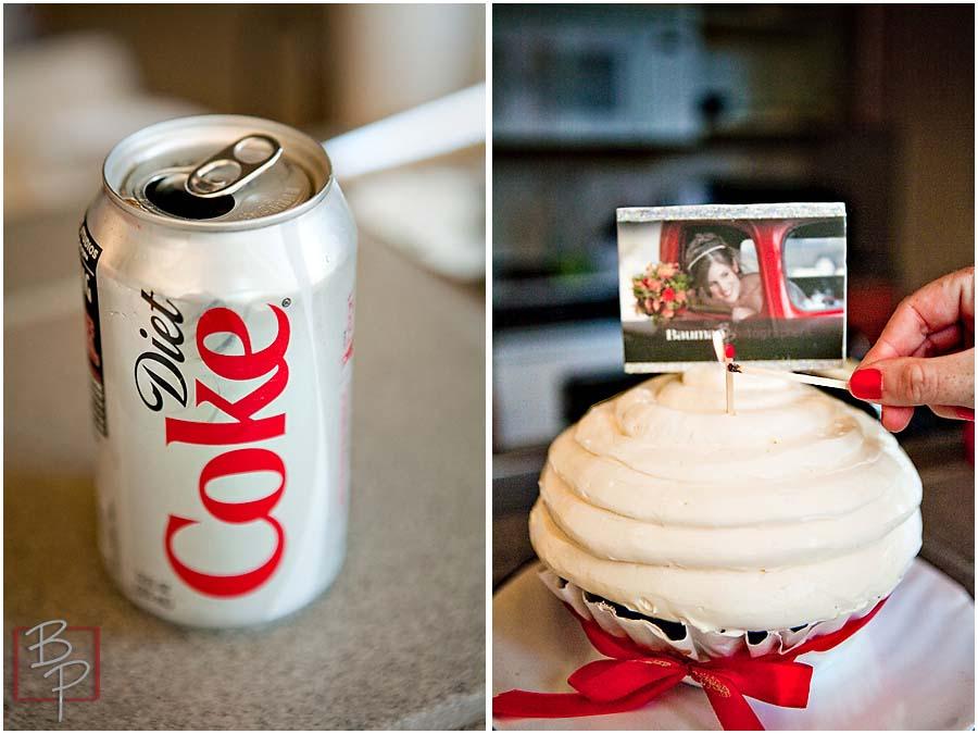 Cake and drink atBauman Photographers Studio in San Diego