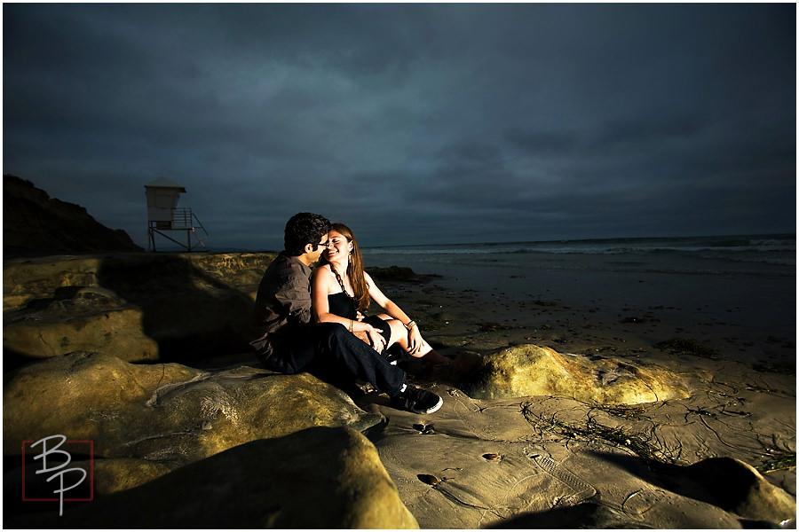 beautiful san diego beach engagement photo