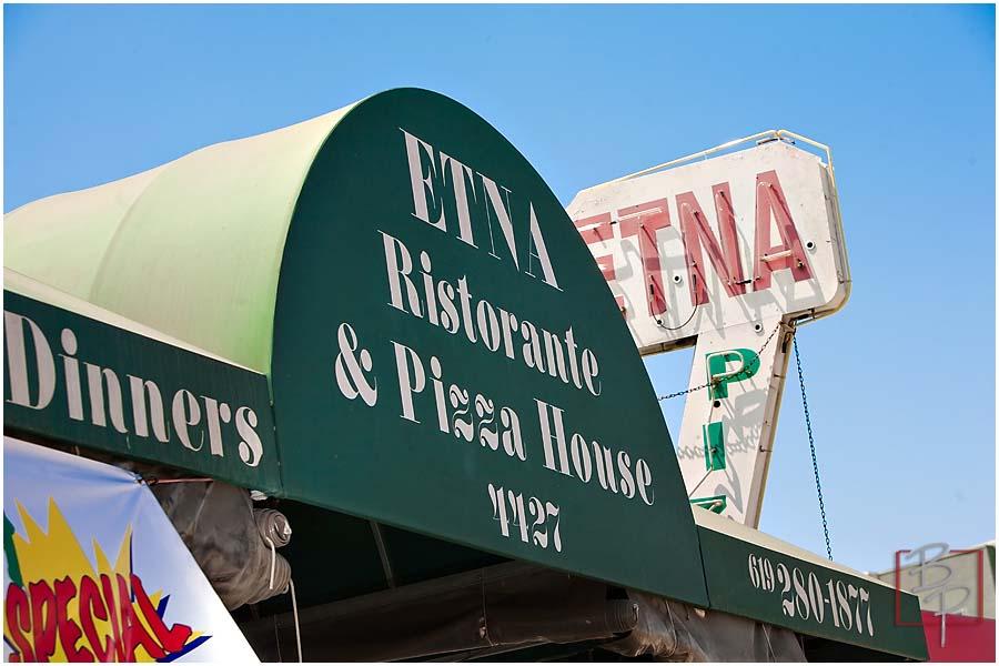 Etna Ristorante and Pizza House at El Cajon Blvd., in San Diego
