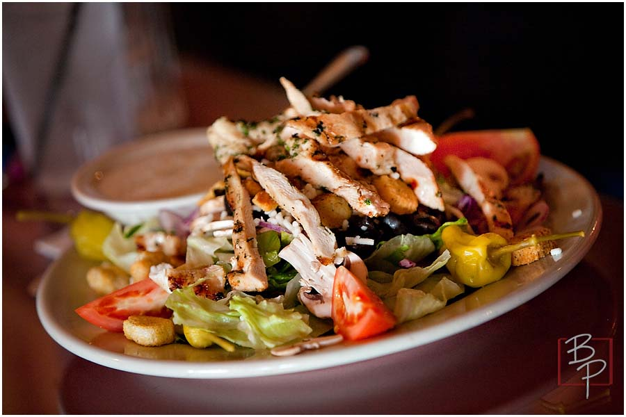 Chicken and salad from Etna Ristorante and Pizza House in El Cajon Blvd.