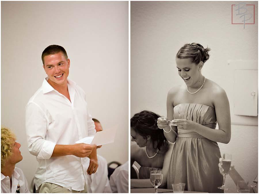 Bridesmaid and groomsman speeches