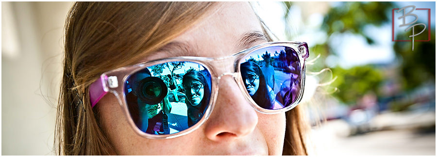 portrait reflection sunglasses
