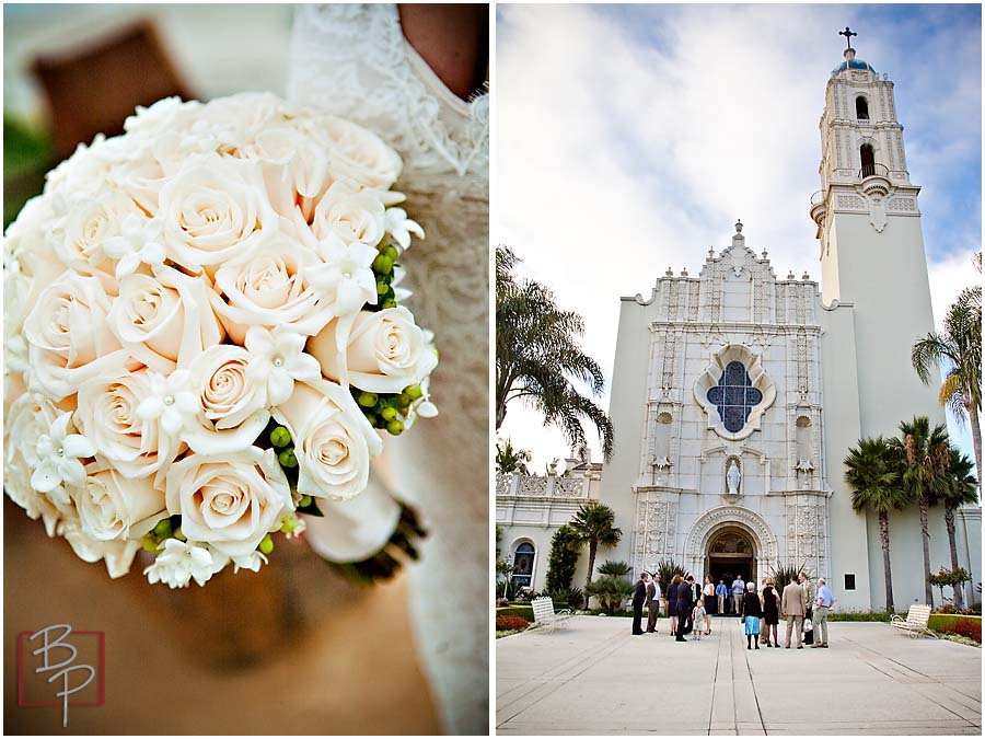 Wedding Bouquet and Chapel Photography