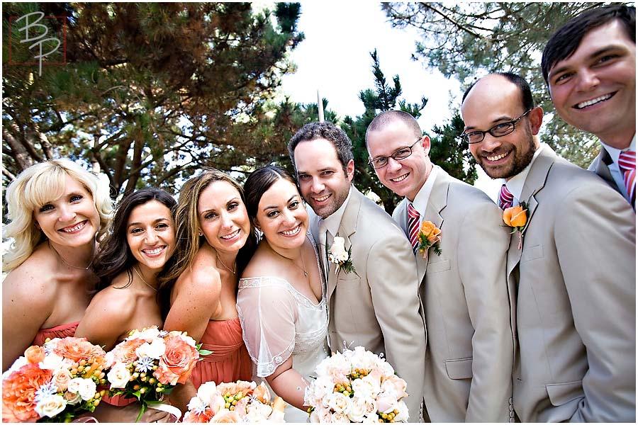 a wedding group shot
