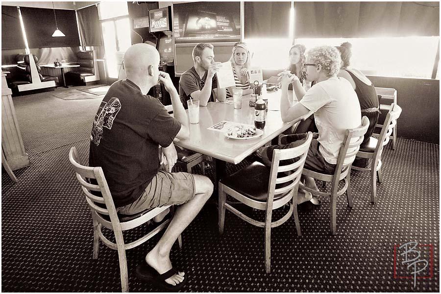 Bauman Photographers Team at Lunch