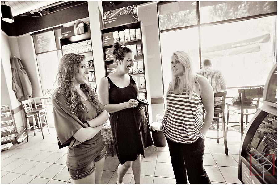 Girls at Starbucks in Kensinton