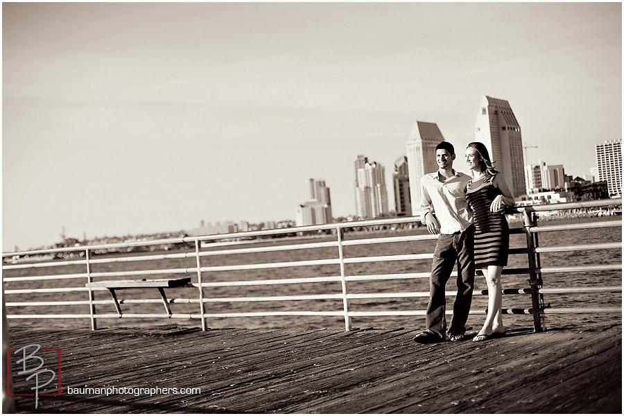 Bauman Photography Engagements photos, San Diego skyline
