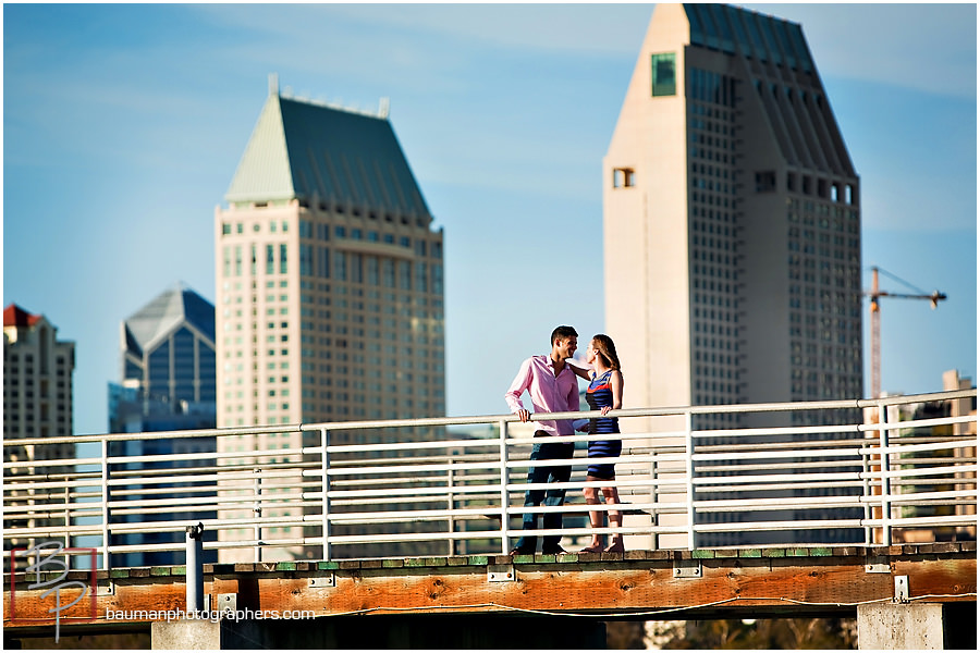 Coronado engagement shoot with San Diego skyline