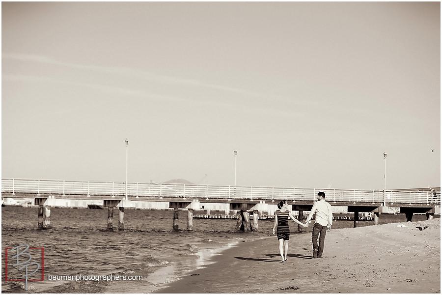 Coronado Beach engagement photos