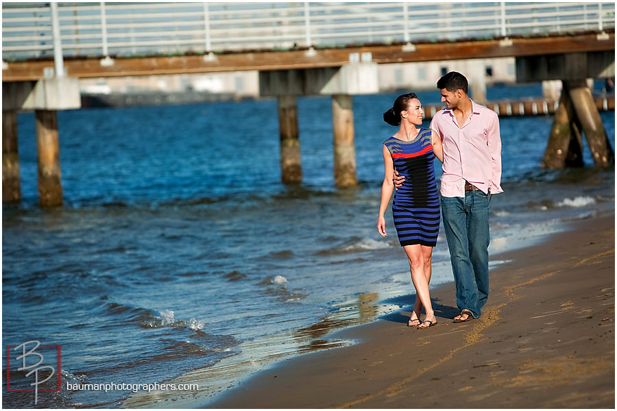 Engagement pictures at Coronado beach