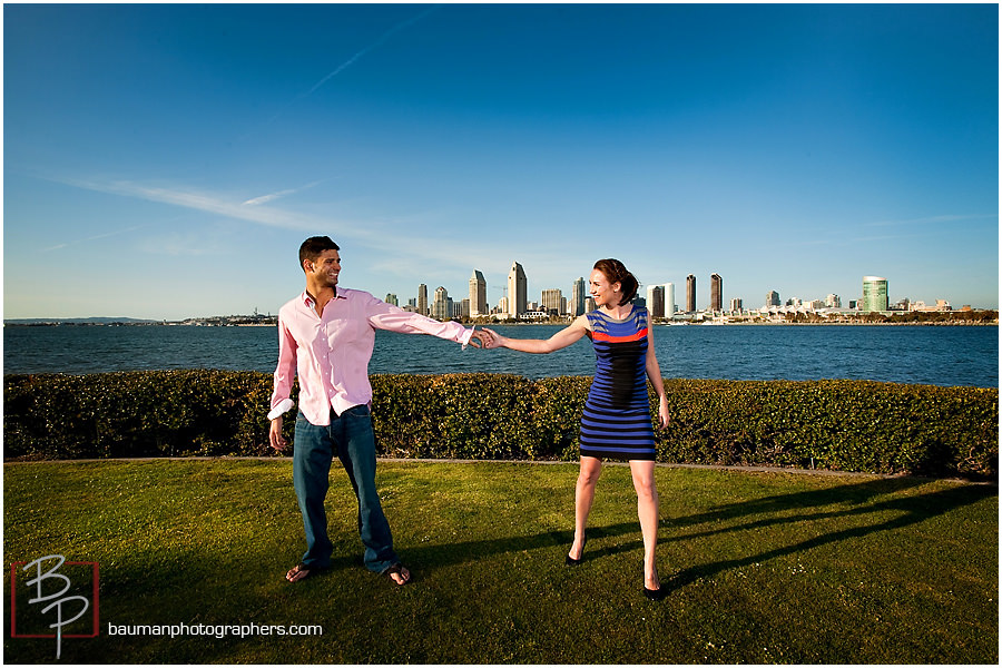 San Diego skyline engagement pictures