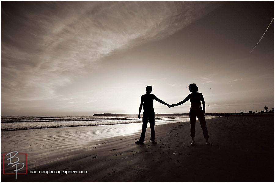 Bauman Photographers beach engagement photos