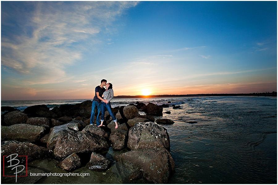 San Diego beach engagement photography at Coronado Island