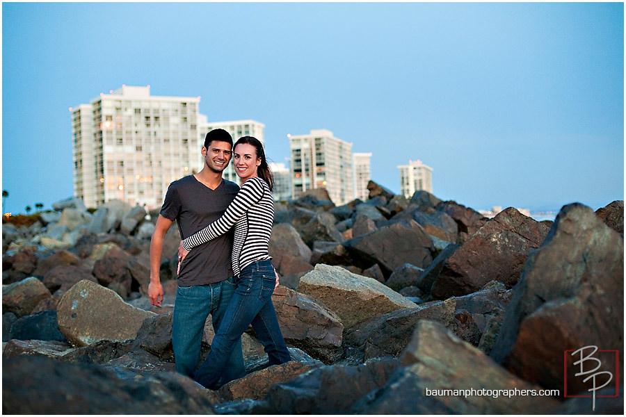 Beach engagements at Coronado