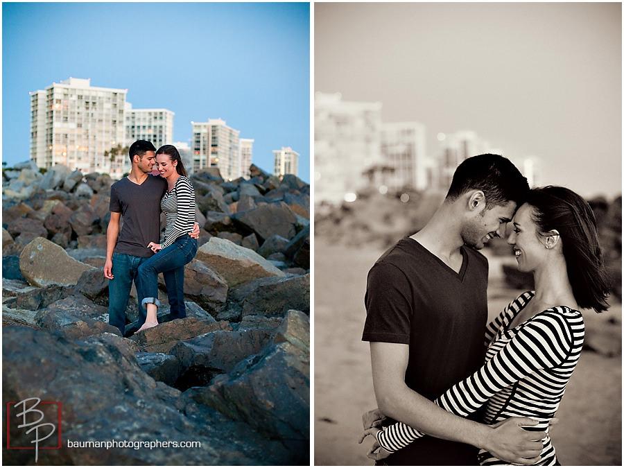 Coronado beach engagement pictures