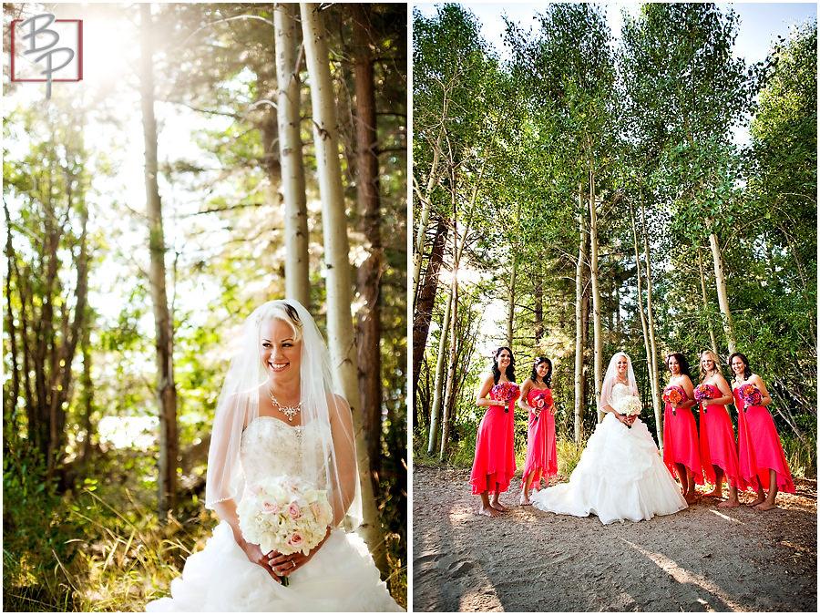 Lakeside bridesmaids outdoor