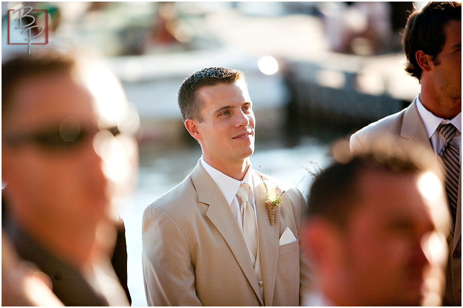 Photograph of groom waiting for bride